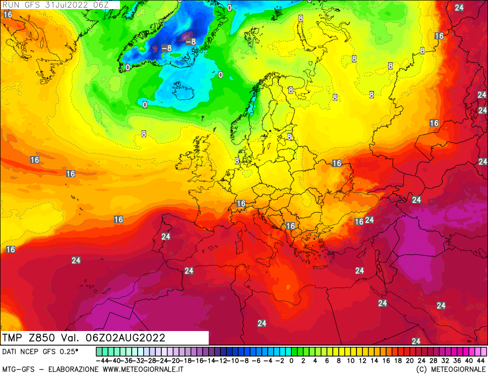 meteogiornale: gfs-t850 - Valid + 48 h (start:3 end:240 step:3)