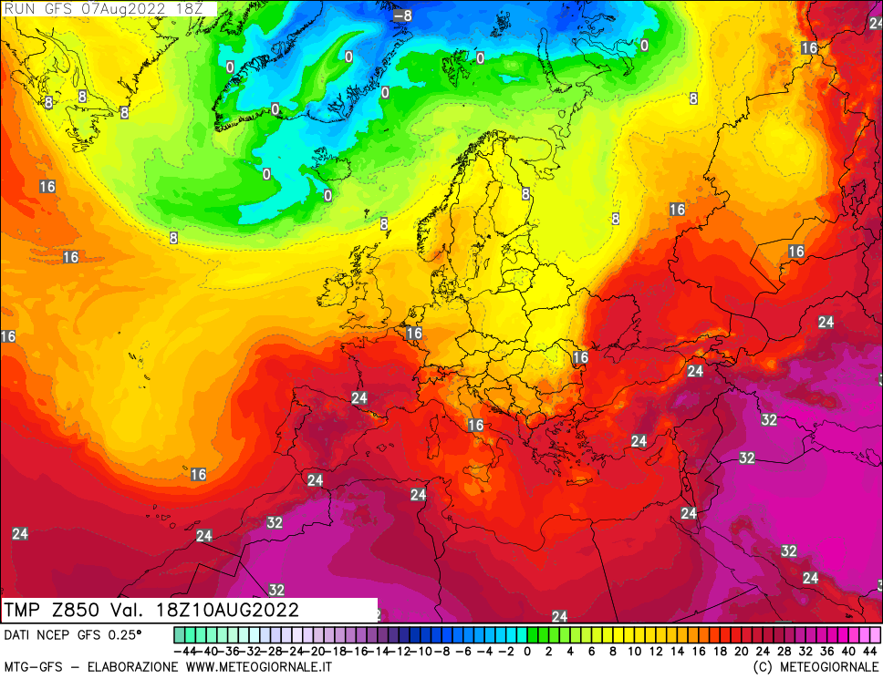 meteogiornale: gfs-t850 - Valid + 72 h (start:3 end:240 step:3)