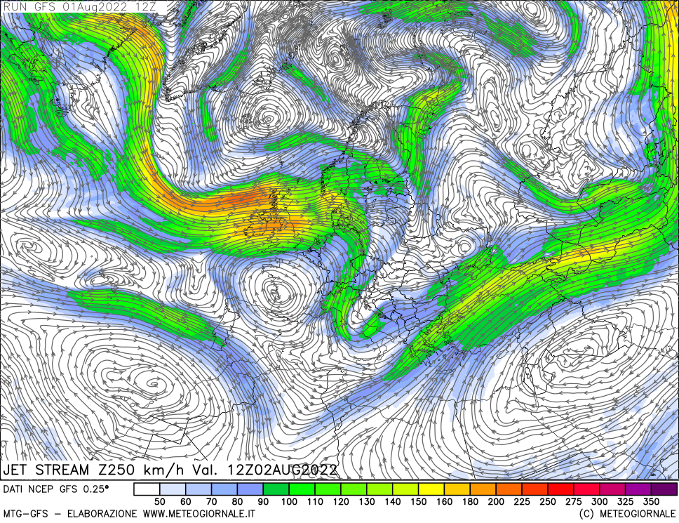 meteogiornale: gfs-w250 - Valid + 24 h (start:3 end:240 step:3)