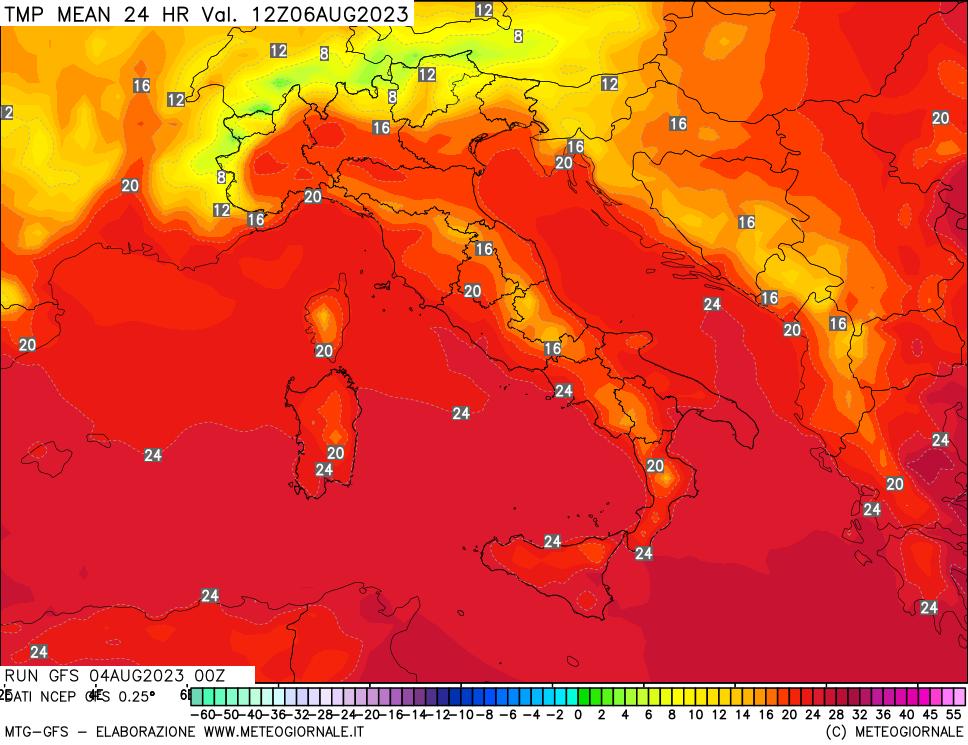 mappa termica Italia